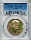 SMS Kennedy Half Dollars, 1967 50C SMS SP67 Cameo PCGS. PCGS Population: (609/51). NGCCensus: (1332/198)....