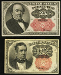 Fractional Currency:Fifth Issue, Fr. 1265 10¢ Fifth Issue VF;. Fr. 1309 25¢ Fifth Issue XF.. ... (Total: 2 notes)