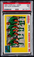 """Football Cards:Singles (1950-1959), 1955 Topps All-American """"The Four Horseman"""" #68 PSA NM 7...."""