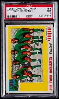 "1955 Topps All-American ""The Four Horseman"" #68 PSA NM 7"