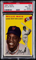 Baseball Cards:Singles (1950-1959), 1954 Topps Willie Mays #90 PSA NM-MT 8 (MC)....