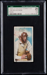 1909-11 T206 Tolstoi Red Kleinow (Boston) SGC 20 Fair 1.5