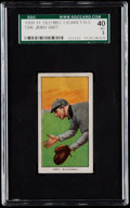 Baseball Cards:Singles (Pre-1930), 1909-11 T206 Old Mill Jimmy Hart SGC 40 VG 3 - Southern Leaguer....