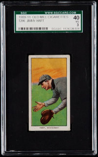 1909-11 T206 Old Mill Jimmy Hart SGC 40 VG 3 - Southern Leaguer