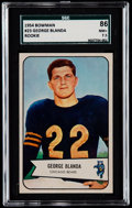 Football Cards:Singles (1950-1959), 1954 Bowman George Blanda #23 SGC 86 NM+ 7.5....
