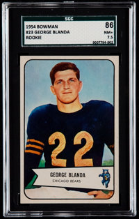 1954 Bowman George Blanda #23 SGC 86 NM+ 7.5
