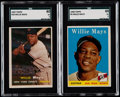 Baseball Cards:Lots, 1957 & 1958 Topps Willie Mays SGC Graded Pair (2)....