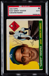 Signed 1955 Topps Sandy Koufax #123 SGC Authentic