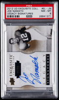 Football Cards:Singles (1970-Now), 2012 UD Exquisite Collection Joe Namath Legacy Signatures #EL-JNPSA NM-MT 8....