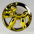 Post-War & Contemporary:Sculpture, Jeff Koons (b. 1954). Balloon Dog (Yellow), 2015. Porcelainsculpture painted in chrome. 10-1/2 inches (26.7 cm) (diamet...