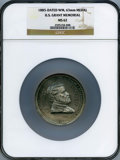 1885-Dated WM, U.S. Grant Memorial, MS62 MS62 NGC. 63 mm Medal. NGC Census: (0/0). PCGS Population: (0/0)