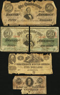 Confederate Notes:Group Lots, Group of CSA Treasury Notes Types 42, 57, 66, and 72 .. ... (Total:4 items)
