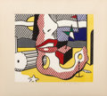 Prints:Contemporary, Roy Lichtenstein (1923-1997). A Bright Night, from theSurrealist Series, 1978. Lithograph in colors on Arches 88pa...