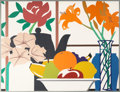 Fine Art - Work on Paper:Print, Tom Wesselmann (1931-2004). Still Life with Petunias, Lilies,and Fruit, 1988. Screenprint in colors on Museum Board. 48...