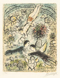 Prints:European Modern, Marc Chagall (1887-1985). Le ciel, 1984. Lithograph incolors on Arches paper. 24-1/4 x 18-7/8 inches (61.5 x 48 cm)(im...