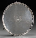 Silver Holloware, British:Holloware, A John Crouch I & Thomas Hannam George III Silver Salver,London, 1782. Marks: (lion passant), (crowned leopard's head),g...