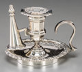 Silver Holloware, British:Holloware, A Diminutive Charles Thomas Fox & George Fox Victorian SilverChild's Chamberstick, London, 1844. Marks: (lion passant), (le...