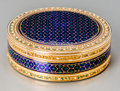 Silver Smalls, A Joseph Etienne Blerzy Louis XVI Enameled 18K Gold Snuff Box,Paris, circa 1788. Marks: (rubbing to marks), (double eagle)...