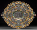 Silver Holloware, Continental, A Viennese Gilt Silver, Enamel, and Rock Crystal Tray in the mannerof Hermann Bohm, late 19th century. Marks: HR, (dog'...