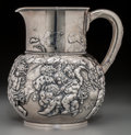 Silver Holloware, American, A Tiffany & Co. Silver Bacchanal Pitcher, New York, circa 1885.Marks: TIFFANY & CO., 4706, MAKERS, 7195, STERLINGSILVER,...