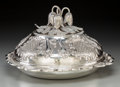 Silver Holloware, British:Holloware, A Henry Holland Victorian Silver Covered Vegetable Dish withFloriform Finial, London, 1863. Marks: (lion passant), (leopard...
