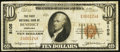 National Bank Notes:Nebraska, Benedict, NE - $10 1929 Ty. 1 The First NB Ch. # 8105. ...
