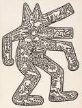 Prints, Keith Haring (1958-1990). Dog, from Icons, 1986-87. Lithograph on Rives paper. 43-1/2 x 33 inches (110.5 x 83.8 cm) ...