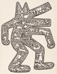 Keith Haring (1958-1990) Dog, from Icons, 1986-87 Lithograph on Rives paper 43-1/2 x 33 inches (110.5 x 83.8 cm)