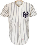 Baseball Collectibles:Uniforms, 1976 Thurman Munson World Series Game Four Worn New York YankeesJersey--Photo Matched!...