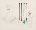 Prints:Contemporary, David Hockney (b. 1937). I Say They Are, pl. 16, from TheBlue Guitar portfolio, 1976. Etching and aquatint in color...