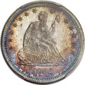 Proof Seated Quarters, 1868 25C PR66 PCGS. Briggs 2-B....