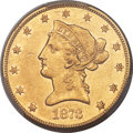 Liberty Eagles, 1873-CC $10 -- Cleaning -- PCGS Genuine. AU Details. Variety 2-B....