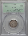 Canada:New Brunswick, Canada: New Brunswick. Victoria 10 Cents 1864 XF40 PCGS,...
