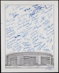 Baseball Collectibles:Photos, New York Mets Greats Signed Oversized Photograph....