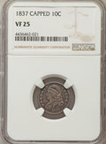 Bust Dimes: , 1837 10C VF25 NGC. NGC Census: (7/136). PCGS Population: (9/205).Mintage 359,500. ...