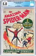 Silver Age (1956-1969):Superhero, The Amazing Spider-Man #1 (Marvel, 1963) CGC Conserved VG/FN 5.0Off-white to white pages....