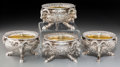 Silver Holloware, British:Holloware, Four John Samuel Hunt and Mortimer & Hunt Victorian Silver andSilver-Gilt Open Salts, London, 1840. Marks: (lion passant), ...(Total: 4 Items)