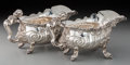 Silver Holloware, British:Holloware, A Pair of Robert Garrard II George IV Silver Figural Shell-FormSauce Boats, after Paul de Lamerie, London, 1824. Marks: (li...(Total: 2 Items)