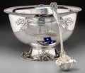 Silver Holloware, American:Bowls, An Impressive Silver Philadelphia Yacht Club Nautical PresentationPunch Bowl and Ladle, attributed to Dominick & Haff, New ...(Total: 2 Items)