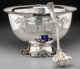 An Impressive Silver Philadelphia Yacht Club Nautical Presentation Punch Bowl and Ladle, attributed to Dominick &amp...