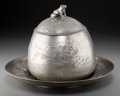 Silver Holloware, Continental, A Kayserzinn Art Nouveau Pewter Tureen with Underplate, Krefeld,Germany, early 20th century . Marks: KAYSERZINN, 4265, P,...