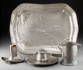 Silver Holloware, Continental, Four-Pieces of Kayserzinn Art Nouveau Pewter Table Articles,Krefeld, Germany, early 20th century. Marks to all: KAYSERZIN...(Total: 4 Items)