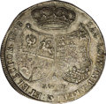 German States:Saxony, German States: Saxony. Friedrich August II Taler 1748FWoF, KM880, Dav-2665, XF-AU with pleasing iridescent gray patina. The 8 of the date a...