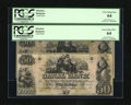 Obsoletes By State:Louisiana, New Orleans, LA- Canal Bank $50 18__ Two Examples. This is the variety that has only allegorical personalities. PCGS Very ... (Total: 2 notes)
