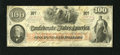 Confederate Notes:1862 Issues, T41 $100 1862. This $100 has corner folds of varying degrees.Extremely Fine+....