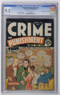 "Golden Age (1938-1955):Crime, Crime and Punishment #5 Davis Crippen (""D"" Copy) pedigree (Lev Gleason, 1948) CGC NM- 9.2 Off-white to white pages...."
