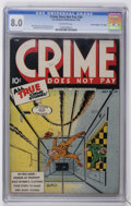 "Golden Age (1938-1955):Crime, Crime Does Not Pay #34 Davis Crippen (""D"" Copy) pedigree (Lev Gleason, 1944) CGC VF 8.0 Off-white pages...."