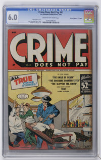 """Crime Does Not Pay #41 Davis Crippen (""""D"""" Copy) pedigree (Lev Gleason, 1945) CGC FN 6.0 Cream to off-white pag..."""