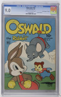 "Golden Age (1938-1955):Funny Animal, Four Color #67 Oswald the Rabbit - Davis Crippen (""D"" Copy)pedigree (Dell, 1945) CGC VF/NM 9.0 Cream to off-white pages...."