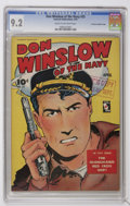 Golden Age (1938-1955):War, Don Winslow of the Navy #25 Crowley Copy/File Copy (Fawcett, 1945)CGC NM- 9.2 Cream to off-white pages....